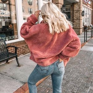 Urban Outfitters Jackets & Coats - UO Sherpa Jacket in Pink